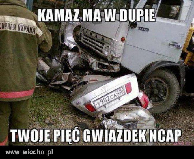 Po wypadku z Kamazem.