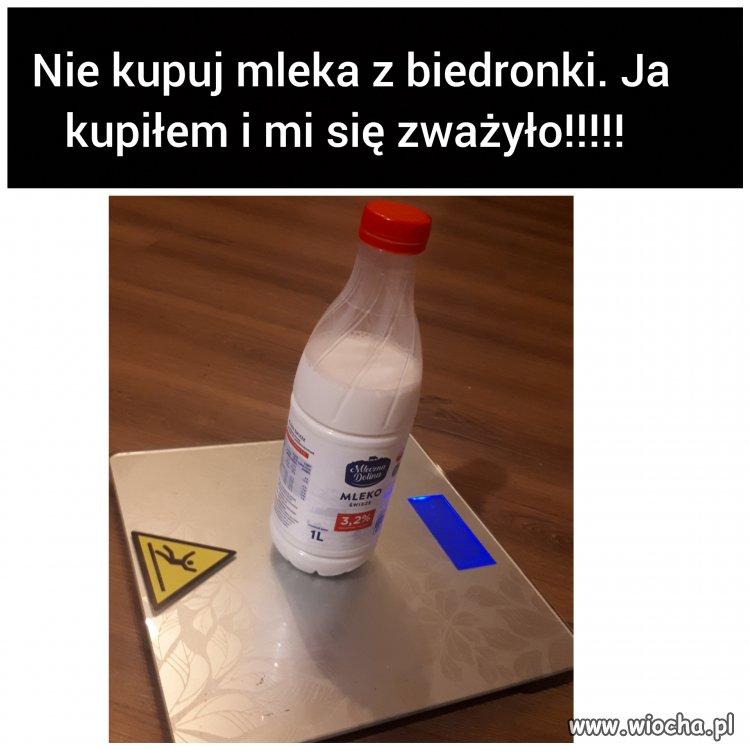 Nie kupuj mleka w biedronce!
