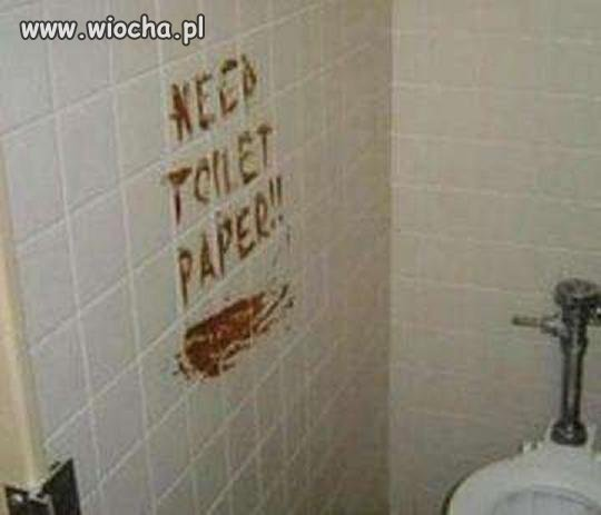 Napisać kupą na ścianiie