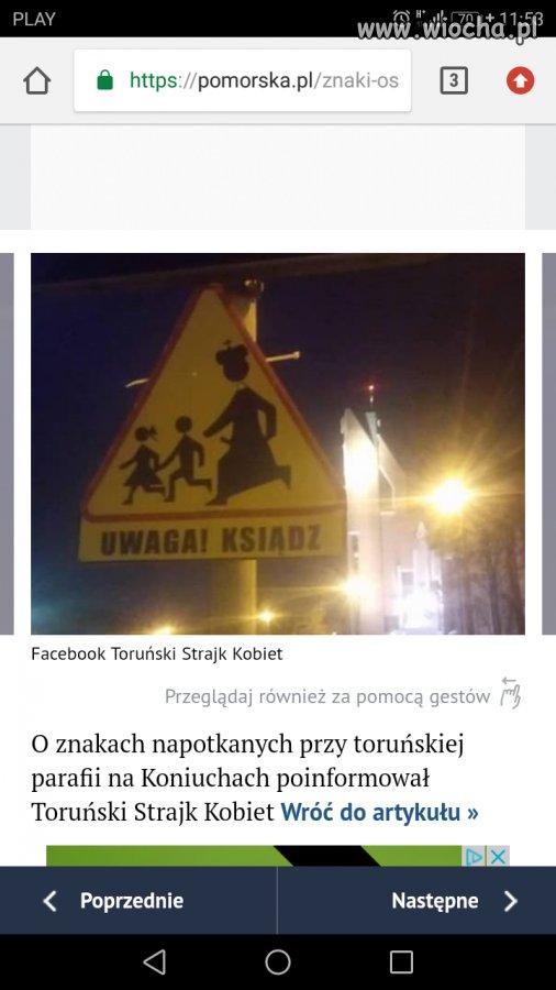 Tymczasem w Toruniu nowe znaki