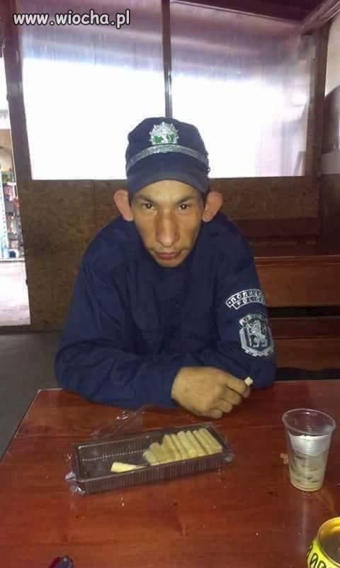 Bułgarski policjant.