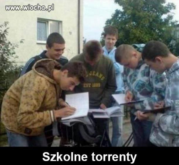 Szkolne torrenty