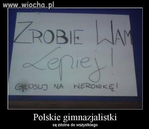 Polskie gimnazjalistki