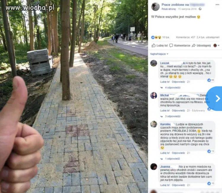 Chodnik w Kołobrzegu.