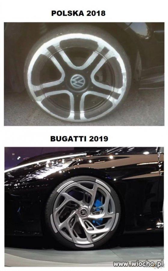Bugatti czerpie inspirację z polskiej pomysłowości