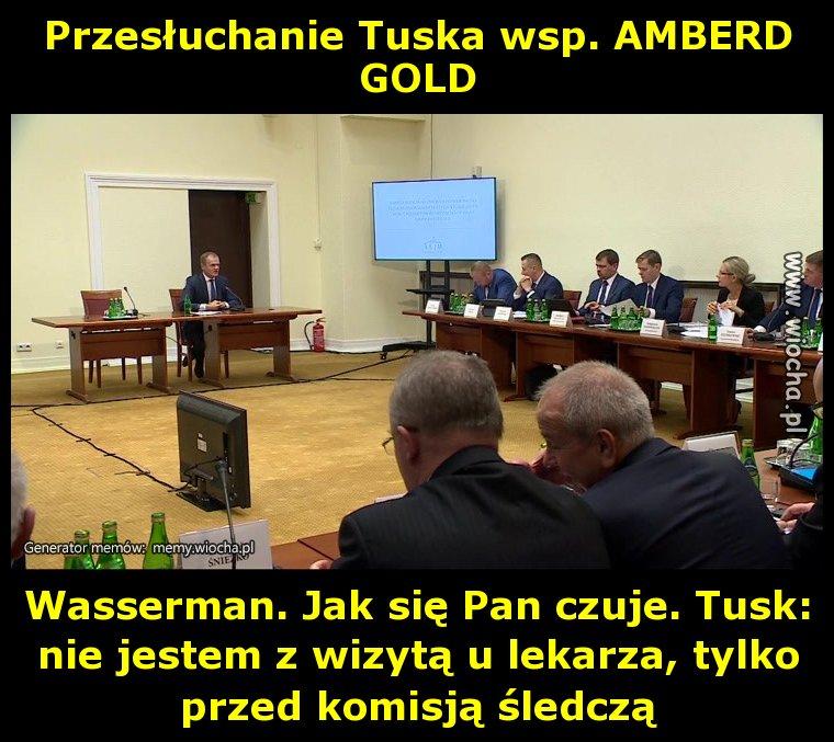 Przesłuchanie Tuska wsp. AMBERD GOLD