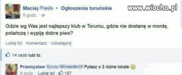 Amator klubowy w Toruniu..