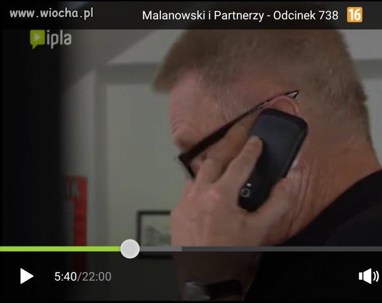 Rozmowa przez telefon.