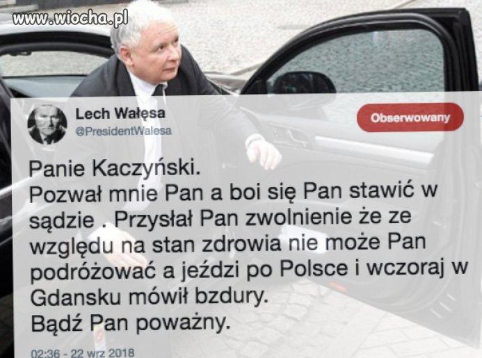 Z Kaczyńskiego taki kozak a boi się konfrontacji?