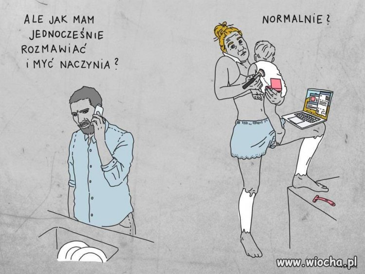 Kobieta wielozadaniowa