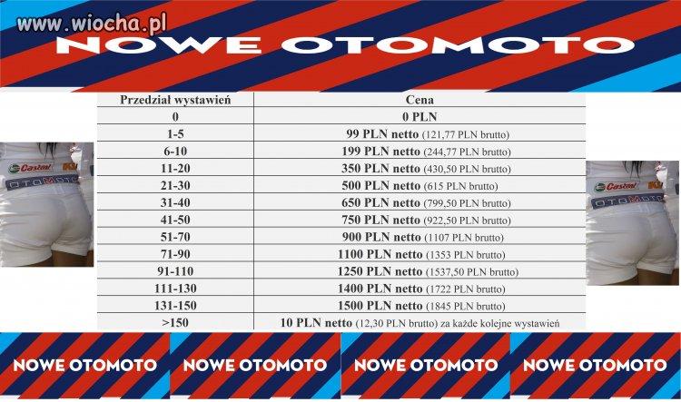 Nowy cennik monopolisty Otomoto