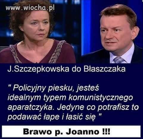 Brawo Pani Szczepkowska.