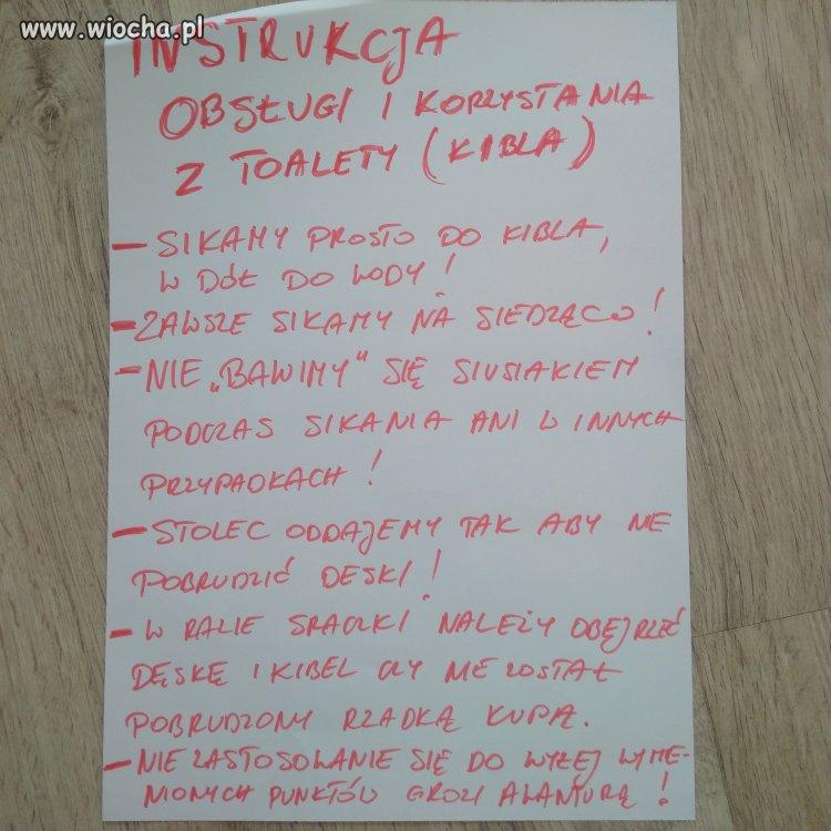 Instrukcja korzystania z toalety