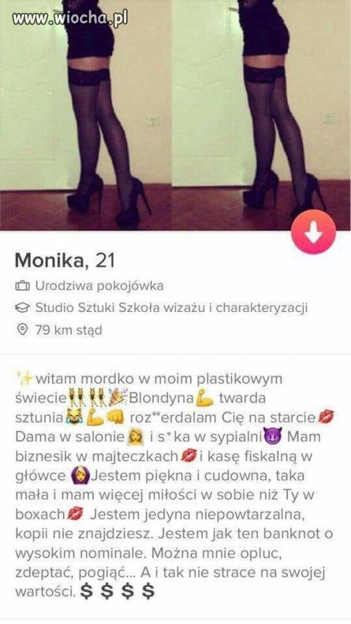 Monika z tindera nie traci wartości