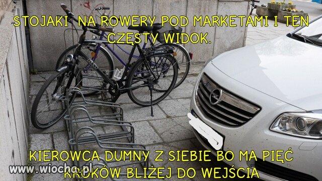 Zostawić rower z tylnym kołem na samochodzie?