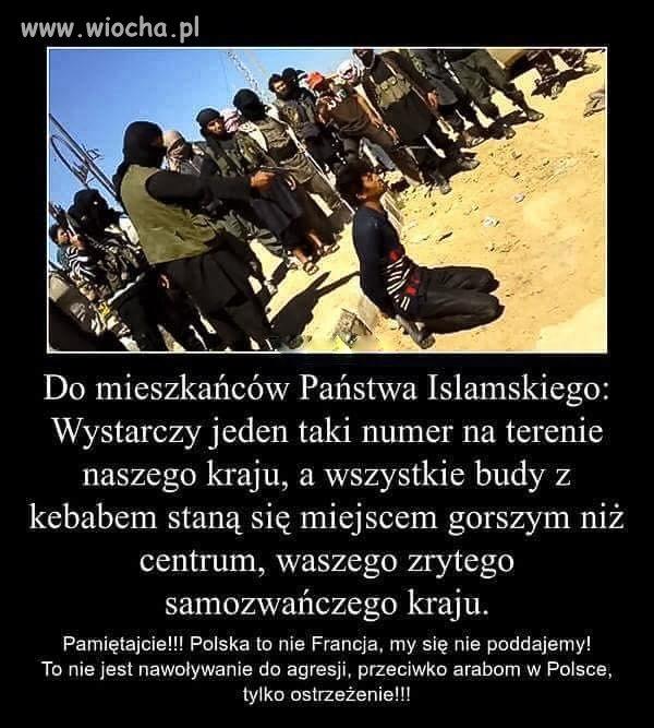 Taki mały przekaz dla muslimów