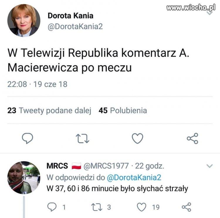 Macierewicz komentatorem sportowym.