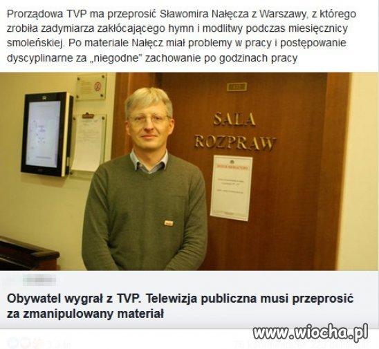 Kolejna porazka rzadowej propagandy PiSu w TVP?