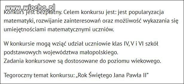 Konkurs matematyczny w Krakowie