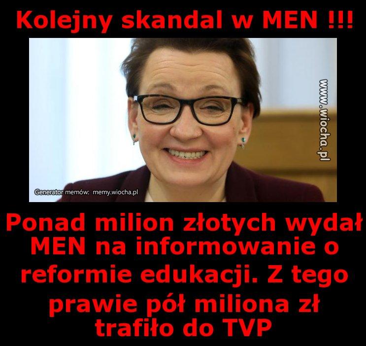 Kolejny skandal w MEN !!!