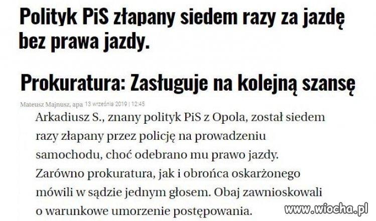 Pan radny PiS-u na pewno jechał dla Polski,