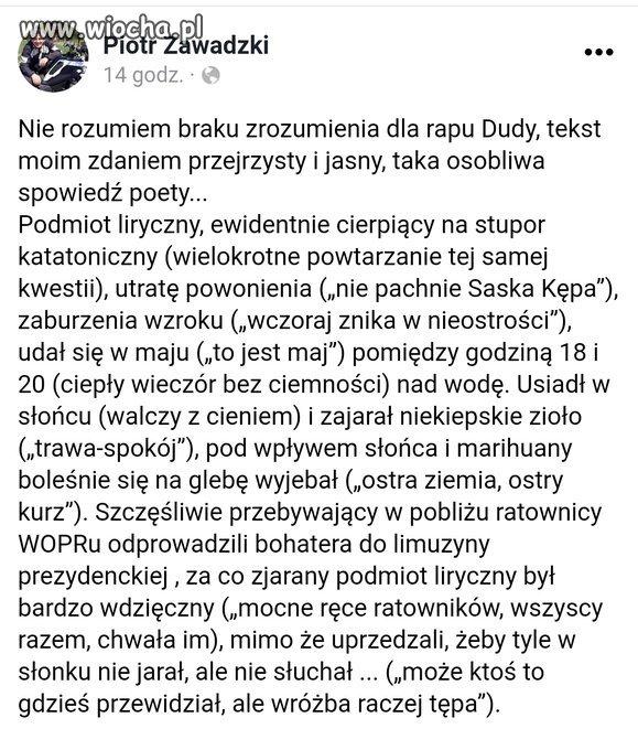 Analiza tekstu PAD