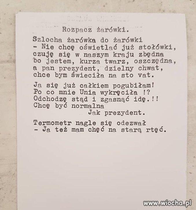 Trochę poezji politycznej