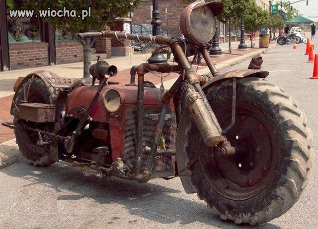 Motocykl ciągnika.
