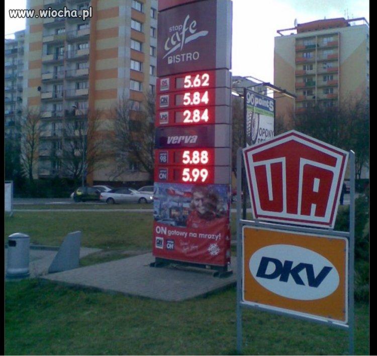 Cena paliw w 2012