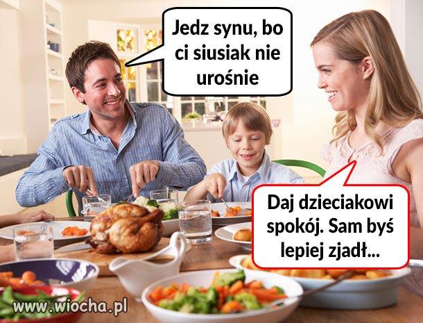 Jedz synu, bo narodowcem zostaniesz