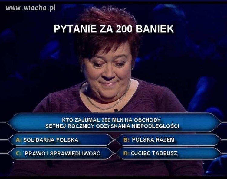 Pytanie za 200 milionów