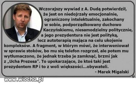 Ocena rezydenta Kaczynskiego...po wywiadzie.