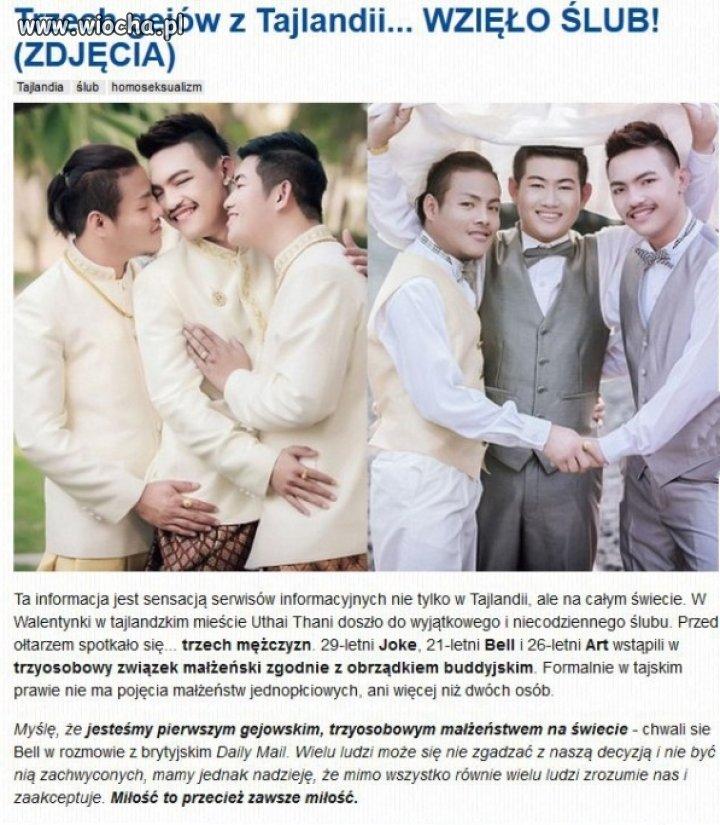 Trzech Gejów Wzięło ślub Wiochapl Absurd 1203048