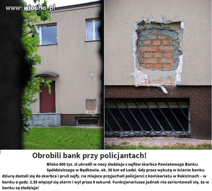 Policjanci przyjechali do okradanego banku