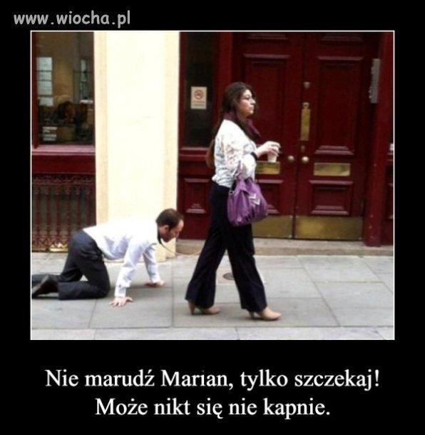 Spacer z Marianem .