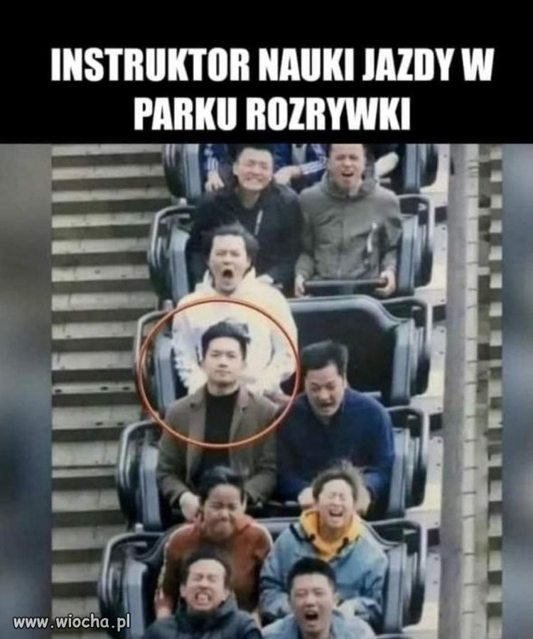 Instruktor nauki jazdy.