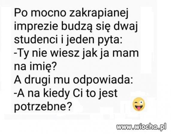 Żart o studentach