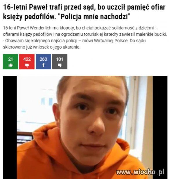 Policja płaszczaka zaczyna chronić pedofilów ?