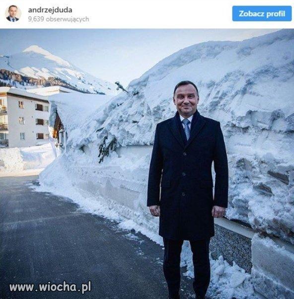 Duda i jego sukces w Davos.