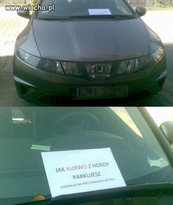 Nauka parkowania.