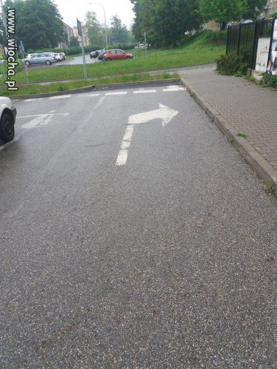 Nakaz jazdy w prawo