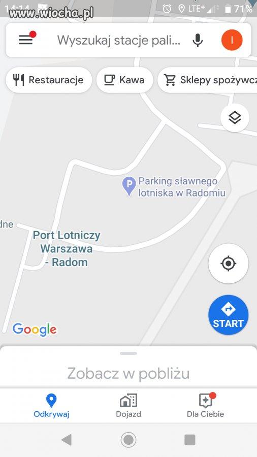Lotnisko Radom wg google