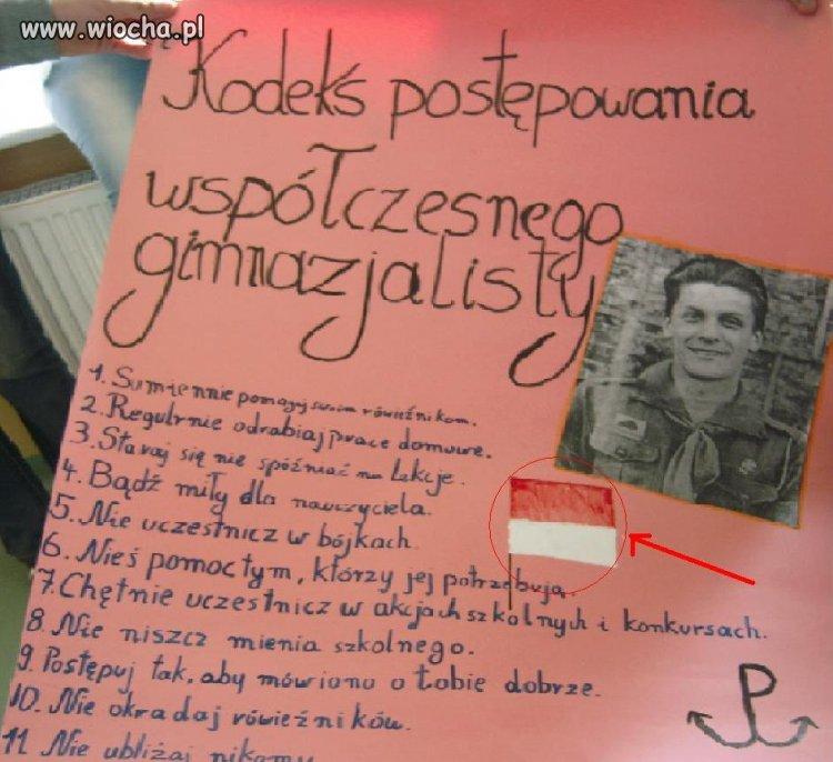 Patriotyczny plakat na j.polski