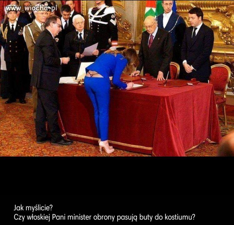 Włoska minister obrony