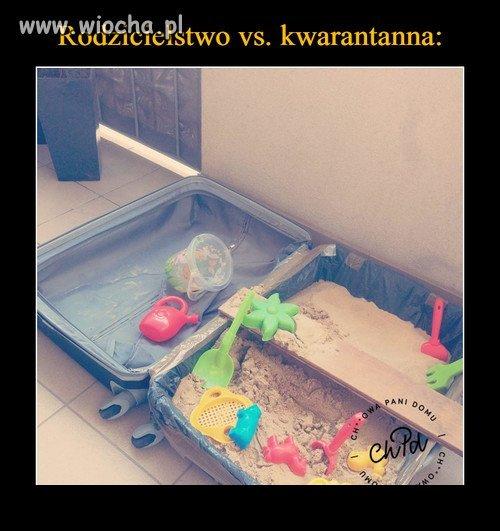 Nie ma jak to piasek w walizce podczas kwarantanny