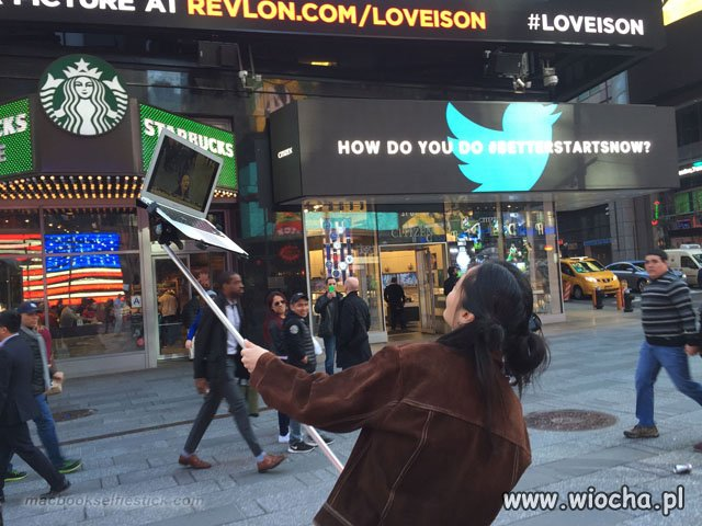 The Macbook Selfie Stick