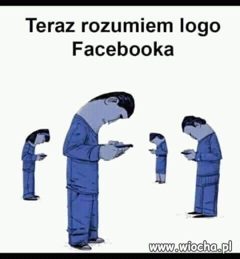 Teraz rozumiem logo Facebooka