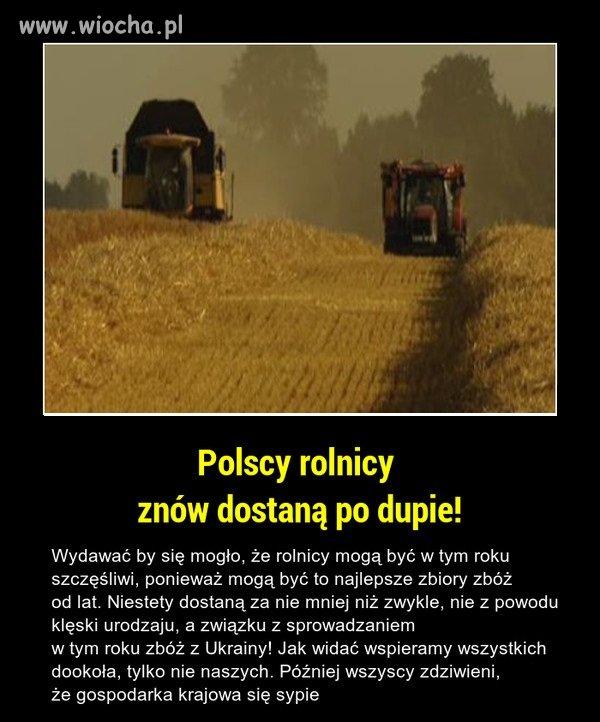 Sabotaż na Polskich rolnikach.