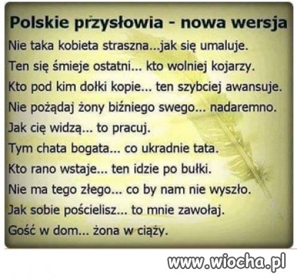 Polskie przyslowia...