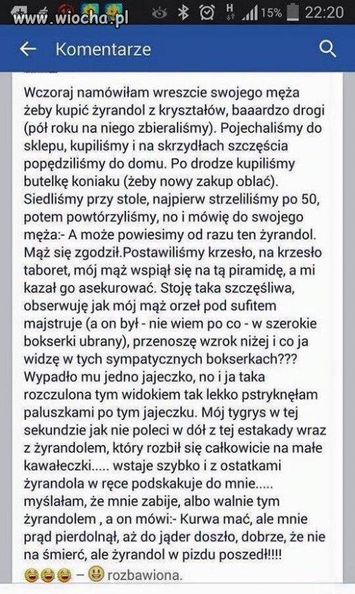 Pani wygra³a facebooka